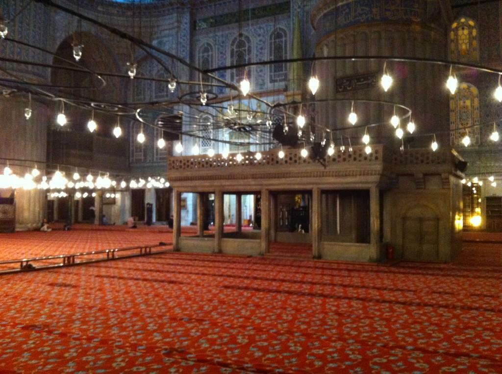 Sultanahmet cami iç görünüm